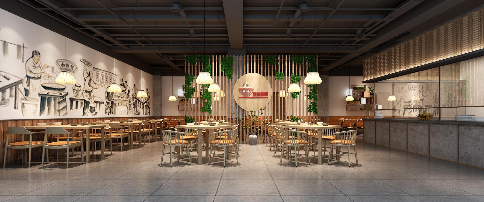 郑州餐厅设计师解读餐厅的内部空间划分