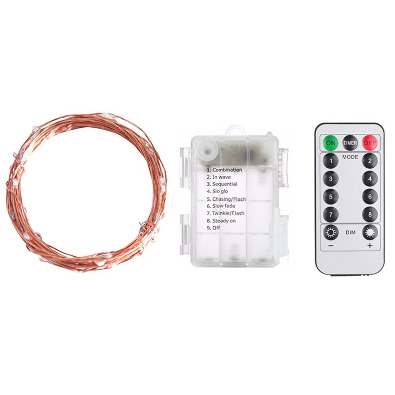 LF-8键防水电池盒铜线灯
