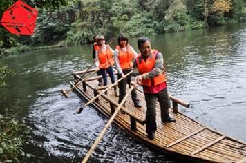 执行力培训项目:竹筏比赛