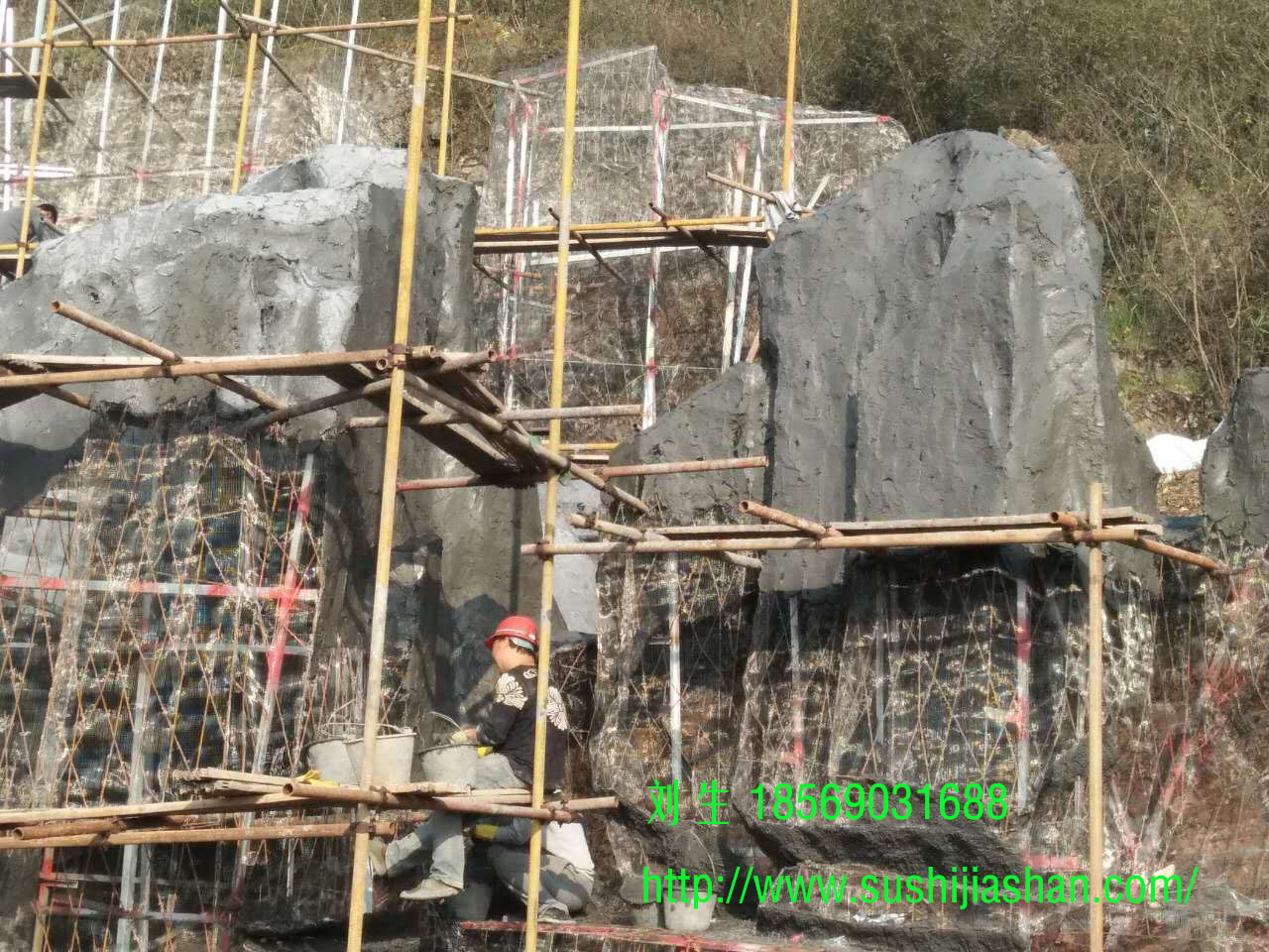 厦溶高速郴州南出口塑石假山