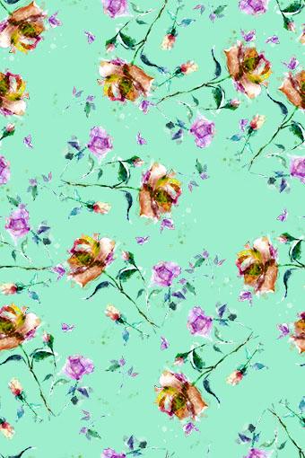 飘零散落唯美花朵