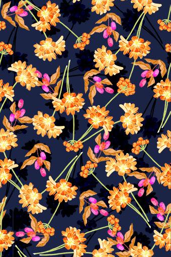 金黄手绘雕饰花朵
