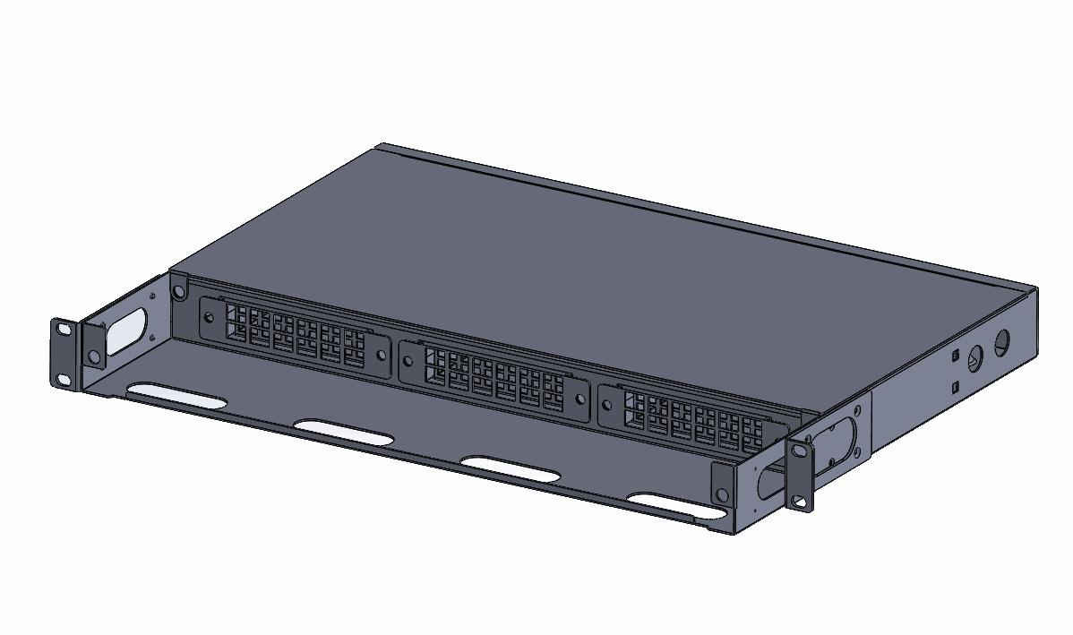 1U -2U 72-144F MPO-LC rack mount Patch panel