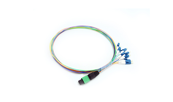 8 cores MPO(Male) -LC Fan-out 0.9mm 30cm Patch cord