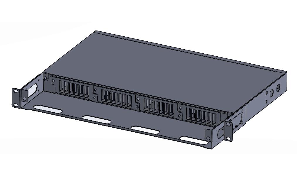 1U -4U 96-240F MPO-LC rack mount Patch panel