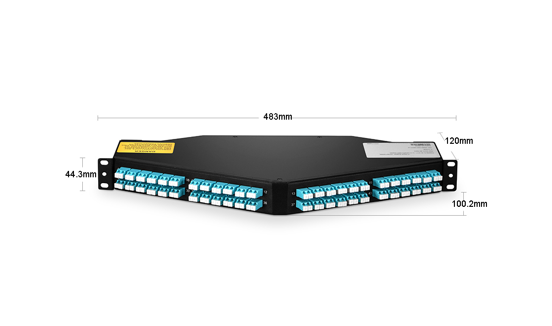 1U  MTP&MPO-LC 96F angled Patch Panel