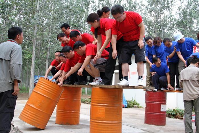 执行力培训项目:沼泽浮桥