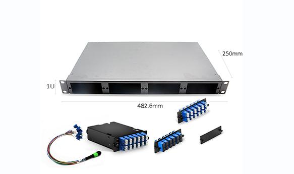 1U 96F MPO-LC rack mount Patch panel