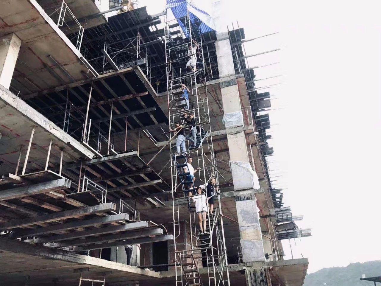 【登岛实时】UTC项目现场跟踪报道,A栋与B栋同步告诉建设,最高部分均已达6层!