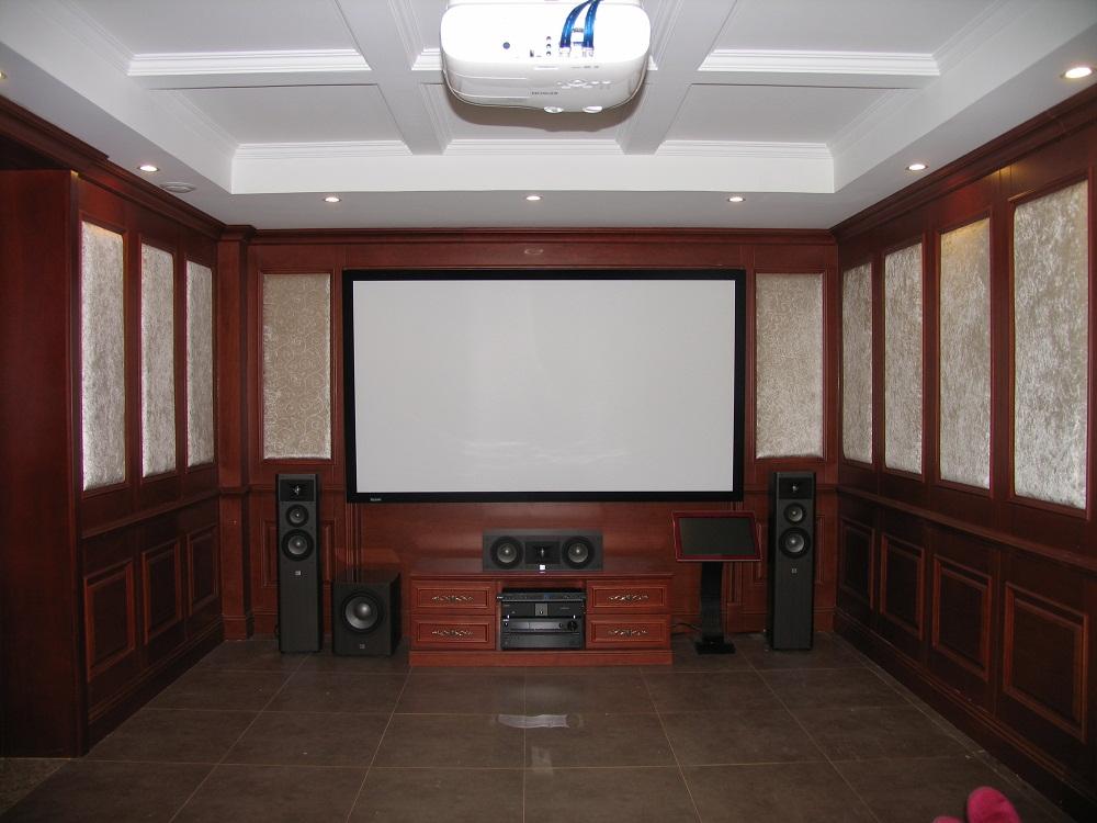 孔雀城客户的家庭影院