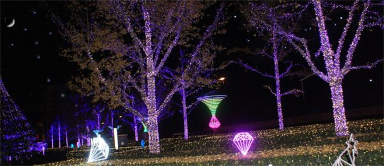 Decorative effect of outdoor LED lamp belt