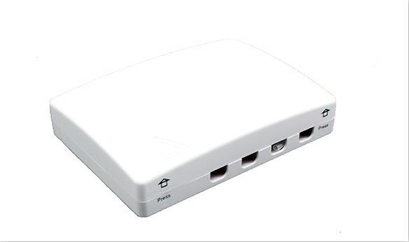 4 ports Fiber socket/Fiber Face Plate- FTB104B