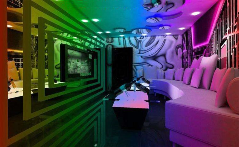 Decoration Effect of LED Lamp Strip in KTV Bathroom