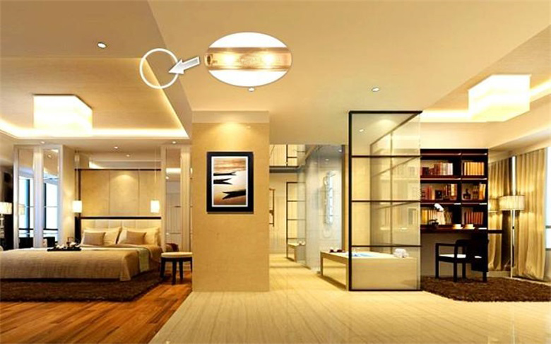 Effect of LED Lamp with Home Decoration