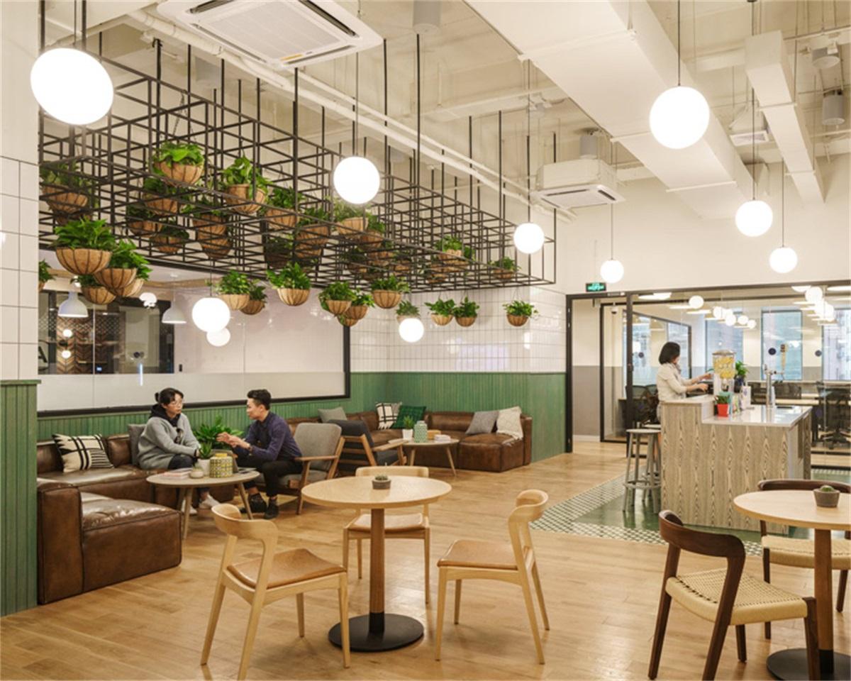 【联合办公】Wework上海威海路联合办公空间丨平面图PDF+机电图纸+建筑&结构CAD+实景+施工完工360全景图