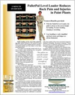 PalletPal Level Loader Reduces Back Pain and Injuries in Paint Plants