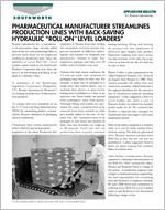 Pharmaceutical Manufacturers Steamlines Production Lines with Back-Saving Hydraulic Roll-On Level Lo