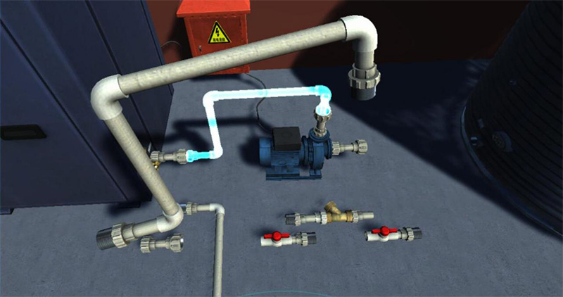空气能热泵机组安装VR实训软件