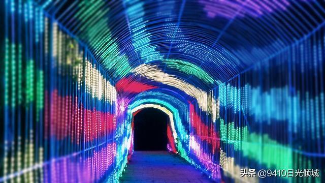 青海省西宁市湟中县上山庄花药谷时光隧道灯光秀