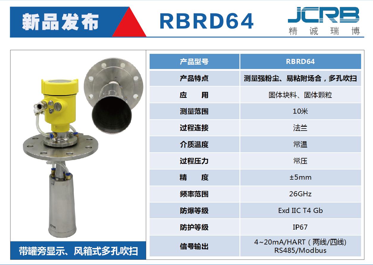 RBRD64       ----带罐旁显示、风箱式多孔吹扫