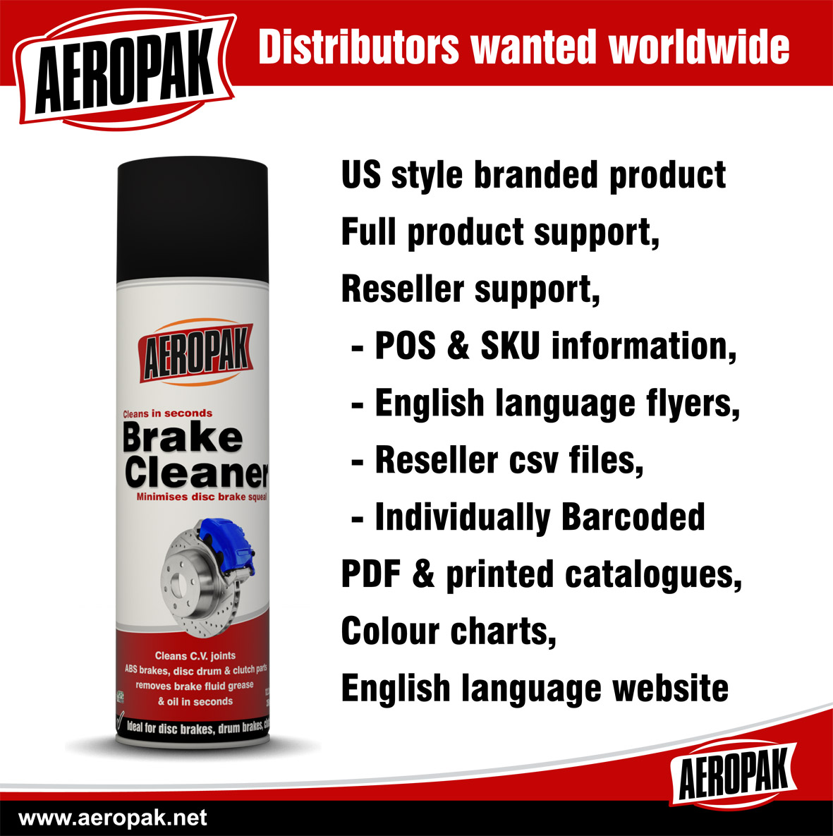 Aeropak Distributors wanted worldwide