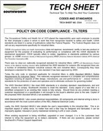 Tilter Code Compliance
