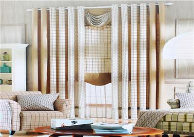 几何图案卧室窗帘