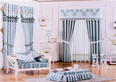 简约点点图案卧室窗帘
