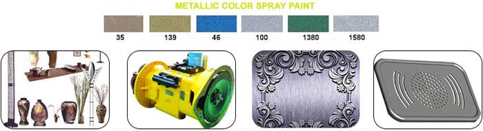 AEROPAK Metallic Spray Colors