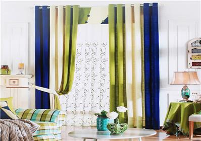纯色拼接卧室窗帘