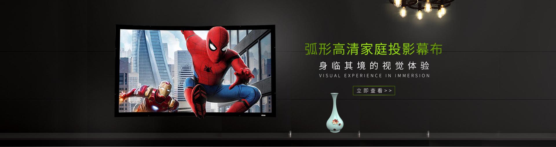 SK系列定制银幕 定制3D私人影院专业平面银幕