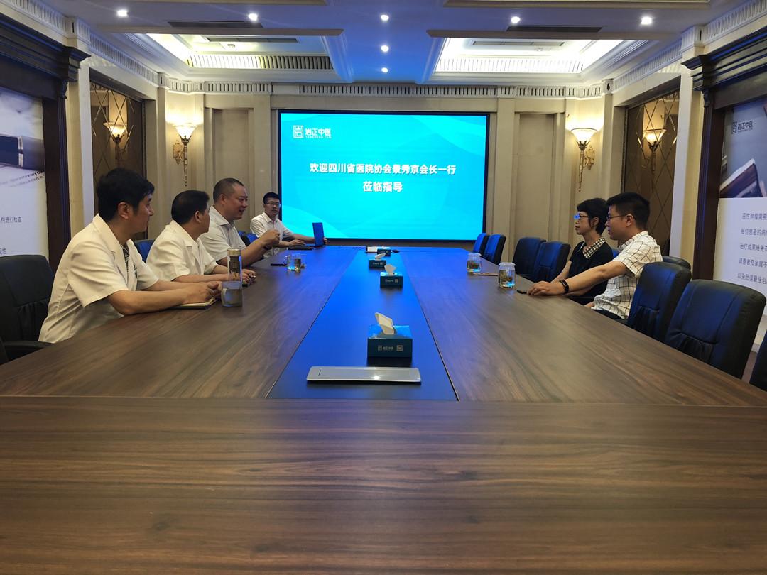 四川省医院协会领导莅临岩正中医参访指导
