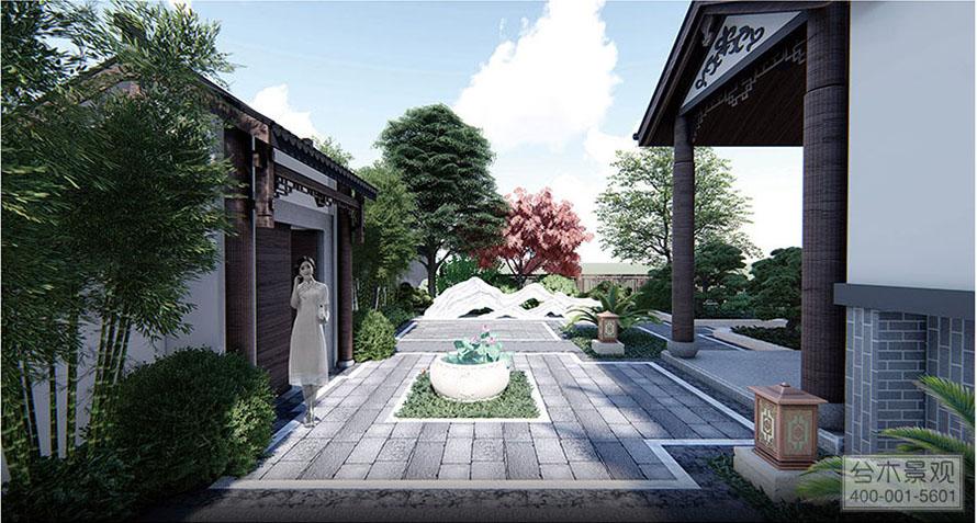 汀湘十里中式别墅区庭院景观设计