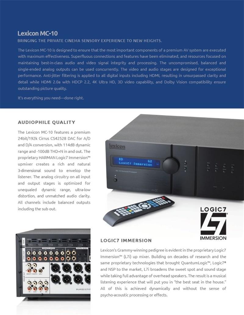 MC-10环绕声处理器
