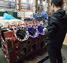 Engine block 3D inspection