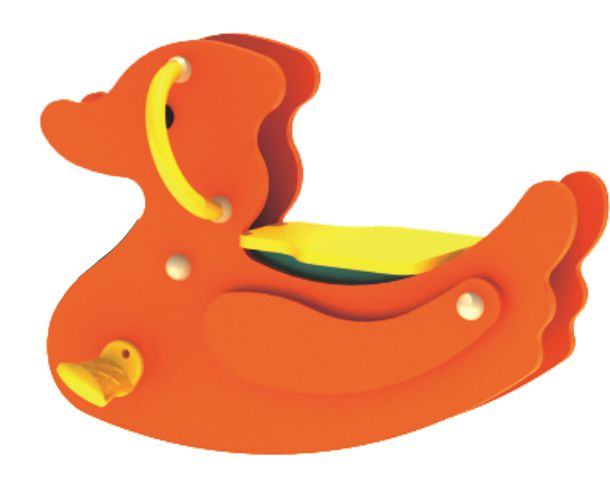 七彩-户外摇摇乐  小橙鸭
