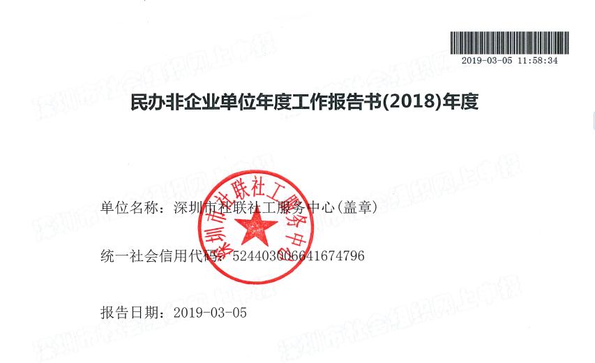 社联2018年年检年报