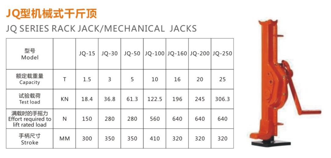 JQ型机械式千斤顶