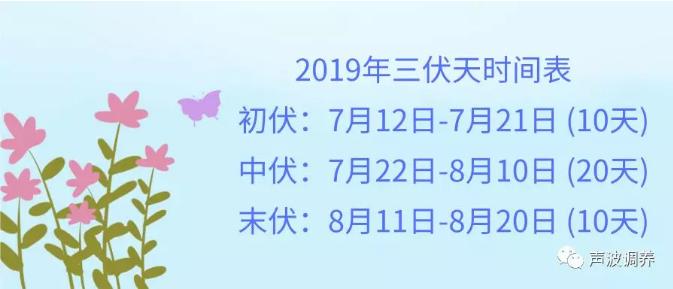 """三伏天养生""""秘笈""""早知道!附:2019三伏天时间表"""