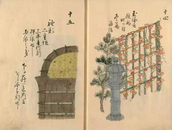 手绘古代篱笆画稿,你不知道古人是审美有多高