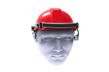Hard hat eyes (with module compartment)