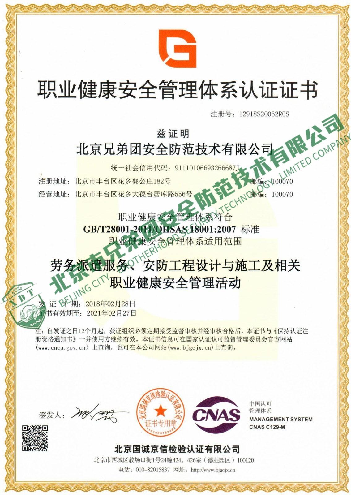 职业健康体系(中文)
