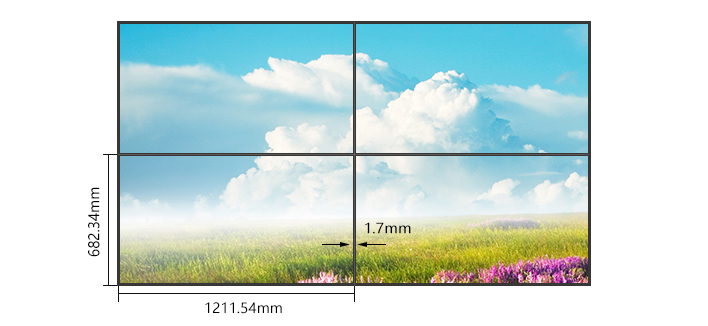 55寸超窄边液晶拼接屏双边拼缝1.8mm