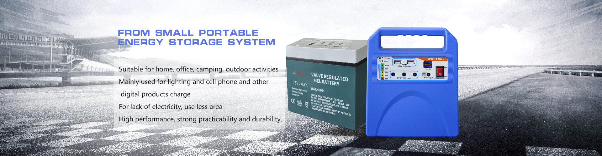 From small portable energy storage system