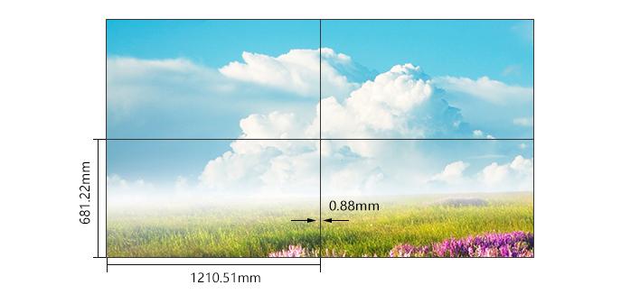 55寸超窄边液晶拼接屏双边拼缝0.88mm