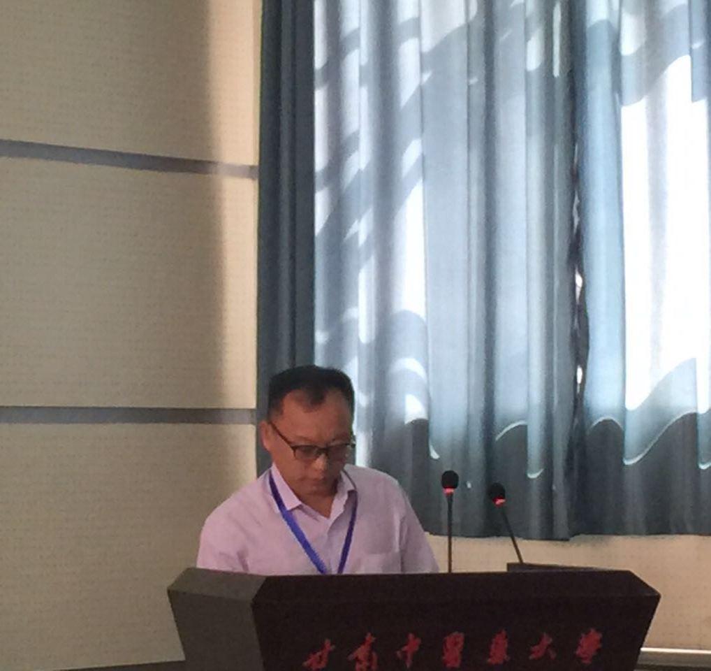 邹明强应邀参加甘肃省生物工程学会成立大会并做学术报告