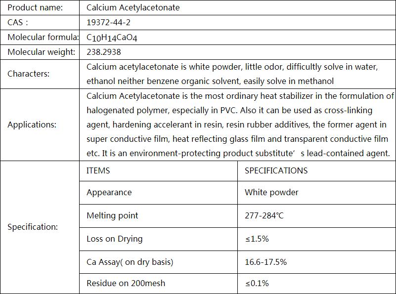 Calcium Acetylacetonate