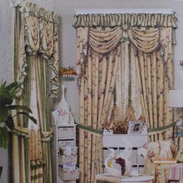 植物花卉图案卧室窗帘