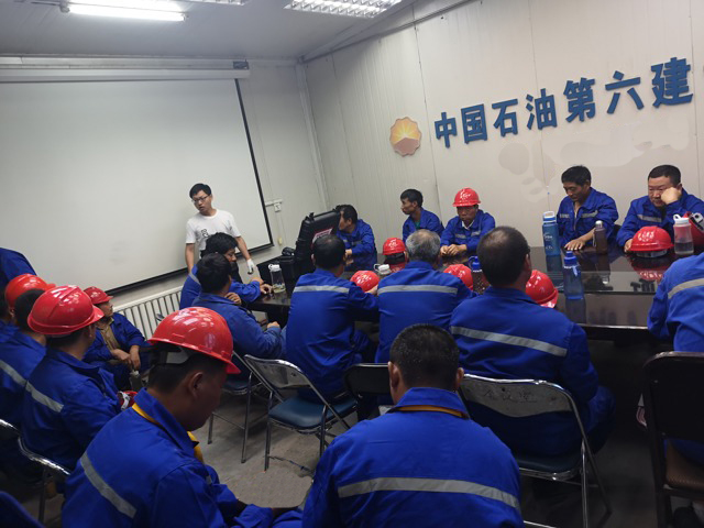 拜尔售后服务团队为中国石油某项目部检修前的液压扭矩扳手技术培训