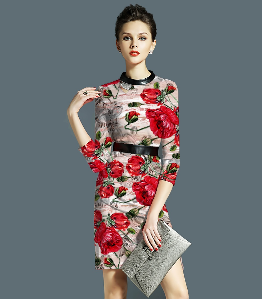 斑斓底大红玫瑰